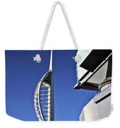 Lifting Portsmouth's Spinnaker Tower Weekender Tote Bag