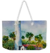 Light House At The Beach Weekender Tote Bag