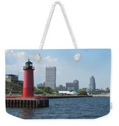 Light House Milwaukee Skyline 1 Weekender Tote Bag