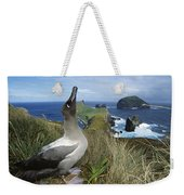 Light-mantled Albatross Sky-pointing Weekender Tote Bag