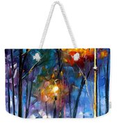 Light Of Luck - Palette Knife Oil Painting On Canvas By Leonid Afremov Weekender Tote Bag