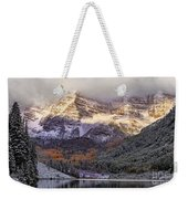 Light On Maroon Bells Weekender Tote Bag