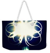 Light Painting Flower Weekender Tote Bag