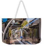 Light Rail Train System In Downtown Charlotte Nc Weekender Tote Bag