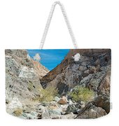Light Side And Dark Side In Big Painted Canyon In Mecca Hills-ca Weekender Tote Bag