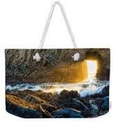 Light The Way - Arch Rock In Pfeiffer Beach In Big Sur. Weekender Tote Bag by Jamie Pham