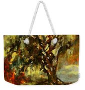 Light Through The Moss Tree Landscape Painting Weekender Tote Bag