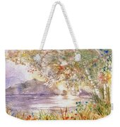 Light Through The Pass Weekender Tote Bag by Marilyn Smith