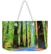 Light Through The Redwoods Weekender Tote Bag