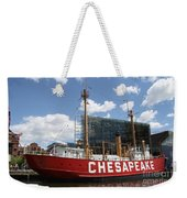 Light Vessel Chesapeake - Baltimore Harbor Weekender Tote Bag