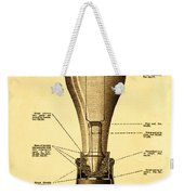 Lightbulb Patent Weekender Tote Bag