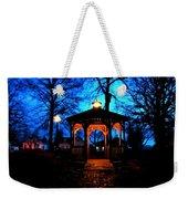Lighted Gazebo Sunset Park Weekender Tote Bag