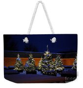 Lighted Trees With Snow Weekender Tote Bag