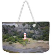 Lighthouse Aerial Near Jekyll Island Weekender Tote Bag