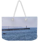 Lighthouse And A Sailing Boat Weekender Tote Bag