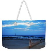 Lighthouse And Beach Weekender Tote Bag