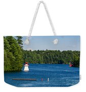 Lighthouse And Boathouse Weekender Tote Bag