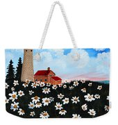 Lighthouse And Daisies Weekender Tote Bag