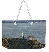 Lighthouse And Sailboat Weekender Tote Bag