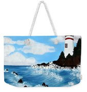 Lighthouse And Sunkers Weekender Tote Bag
