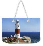 Lighthouse At Europa Point Gibraltar Weekender Tote Bag