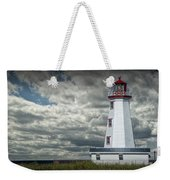 Lighthouse At North Cape On Prince Edward Island Weekender Tote Bag