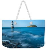 Lighthouse At Penmon Point Weekender Tote Bag