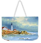 Lighthouse At Portland Head Maine Weekender Tote Bag
