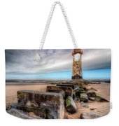 Lighthouse At Talacre  Weekender Tote Bag by Adrian Evans