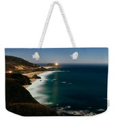 Lighthouse At The Coast, Moonlight Weekender Tote Bag