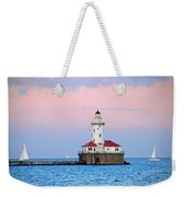 Lighthouse At The Navy Pier Weekender Tote Bag