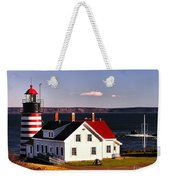 Lighthouse At West Quoddy Head Weekender Tote Bag