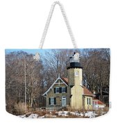 Lighthouse At White River Weekender Tote Bag
