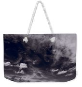 Lighthouse Beach Dunes Bw Weekender Tote Bag by Steve Gadomski