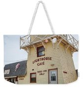 Lighthouse Cafe In North Rustico Weekender Tote Bag