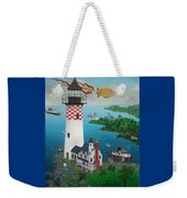 Lighthouse Fishing Weekender Tote Bag