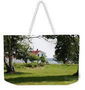 Lighthouse Hidden Behind Trees Weekender Tote Bag