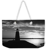 Lighthouse In Black And White Weekender Tote Bag