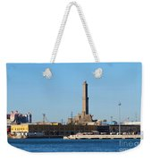 Lighthouse In Genova. Italy Weekender Tote Bag