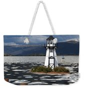 Lighthouse In Lake Dillon Weekender Tote Bag