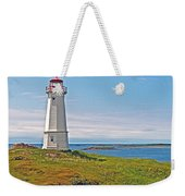 Lighthouse In Louisbourgh-ns Weekender Tote Bag