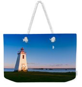 Lighthouse In The Light From Moon And Sun Weekender Tote Bag