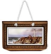 Lighthouse In Vintage Frame Weekender Tote Bag
