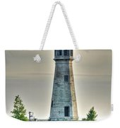Lighthouse Just Before Sunset At Erie Basin Marina Weekender Tote Bag