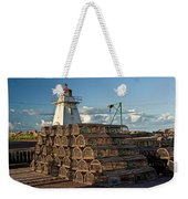 Lighthouse On A Channel By Cascumpec Bay On Prince Edward Island No. 094 Weekender Tote Bag