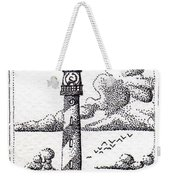 Lighthouse On A Cliff Bookmark Weekender Tote Bag
