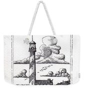 Lighthouse On A Cliff Pointillist Weekender Tote Bag