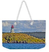 Lighthouse On Brier Island In Digby Neck-ns Weekender Tote Bag