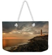 Lighthouse On The Coast, Ardnamurchan Weekender Tote Bag