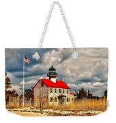 Lighthouse On The Delaware Weekender Tote Bag